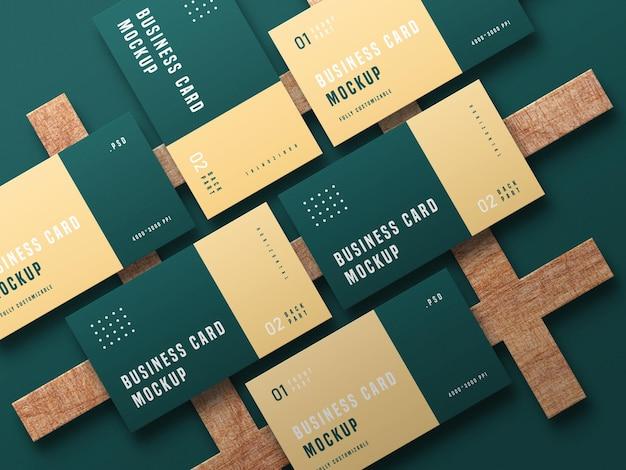 Maquete de conjunto de cartão de visita