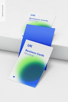 Maquete de conjunto de cartões de visita verticais