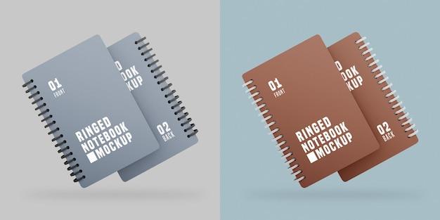 Maquete de conjunto de notebook