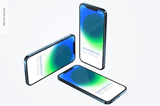 Maquete de conjunto de smartphone