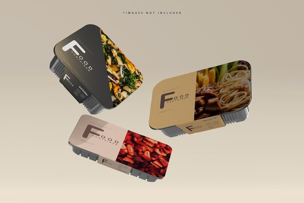Maquete de contêiner de comida