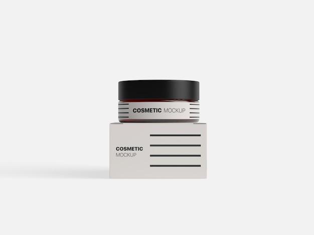 Maquete de contêiner de embalagem de cosméticos