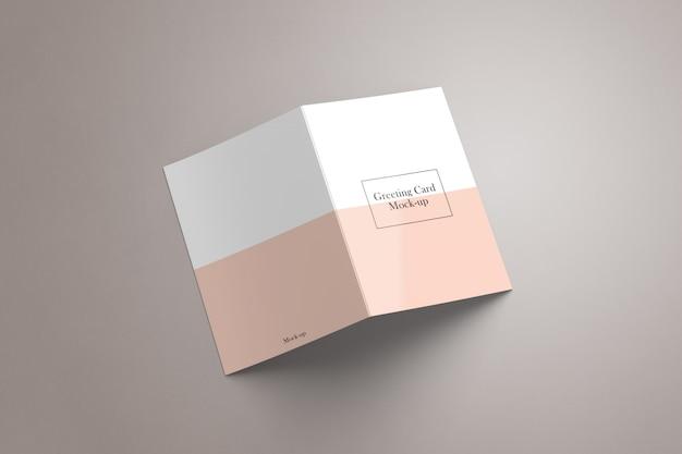 Maquete de convite e cartão de felicitações