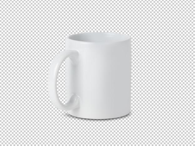 Maquete de copo caneca branca para seu projeto