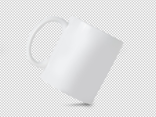Maquete de copo caneca branca transparente