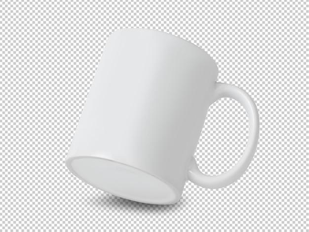 Maquete de copo caneca branca