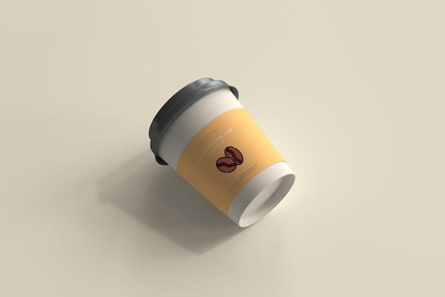 Maquete de copo de café de papel de tamanho pequeno