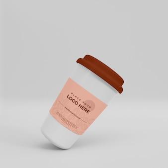 Maquete de copo de café de papel realista