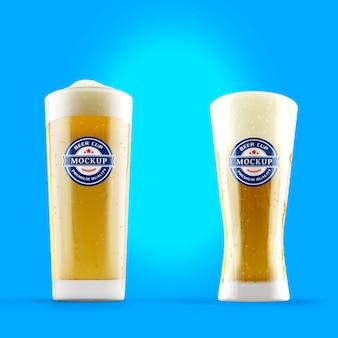 Maquete de copo de cerveja