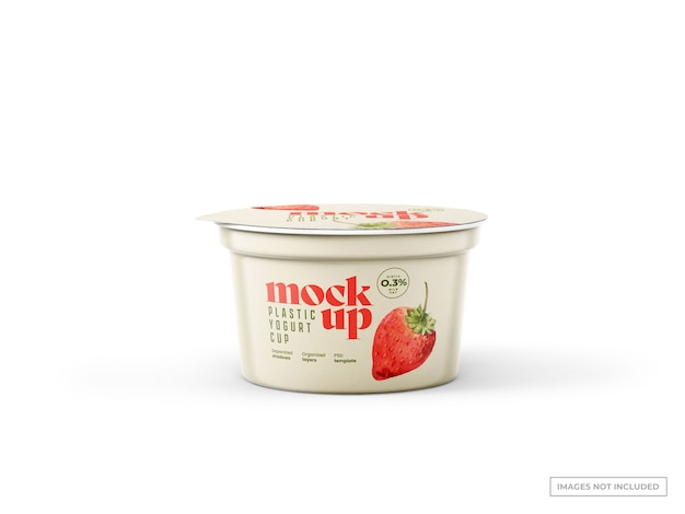 Maquete de copo de iogurte
