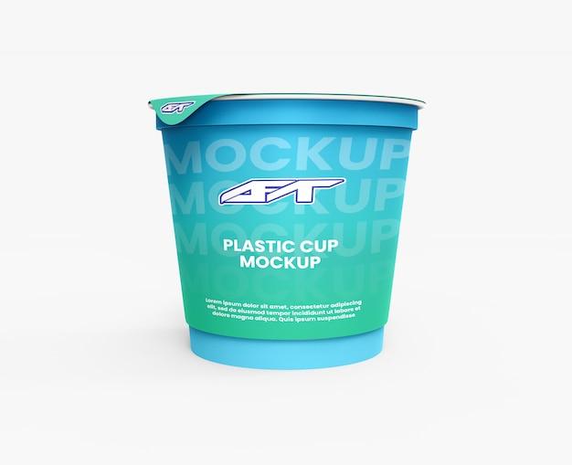 Maquete de copo de plástico