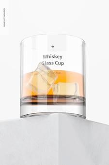 Maquete de copo de uísque de 11 onças, perspectiva