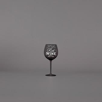 Maquete de copo de vinho