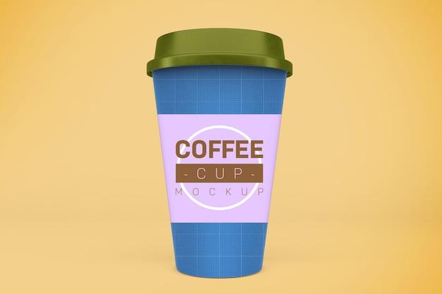 Maquete de copos de café
