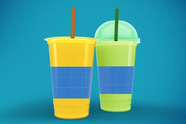 Maquete de copos de suco