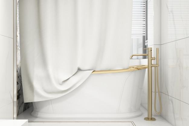 Maquete de cortina de banho