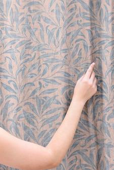 Maquete de cortina de janela floral psd