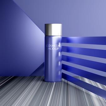 Maquete de cosméticos de embalagem de soro
