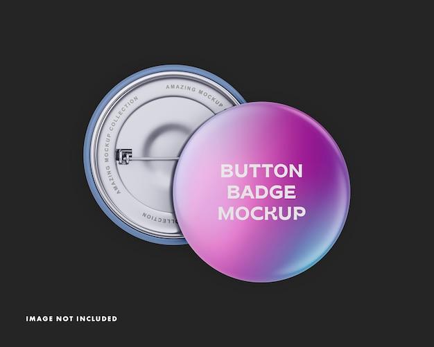 Maquete de crachá de botão