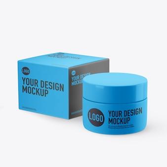 Maquete de creme cosmético isolada