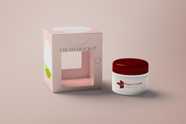 Maquete de creme cosmético