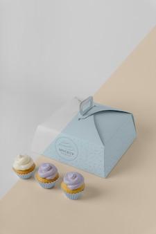 Maquete de cupcake delicioso