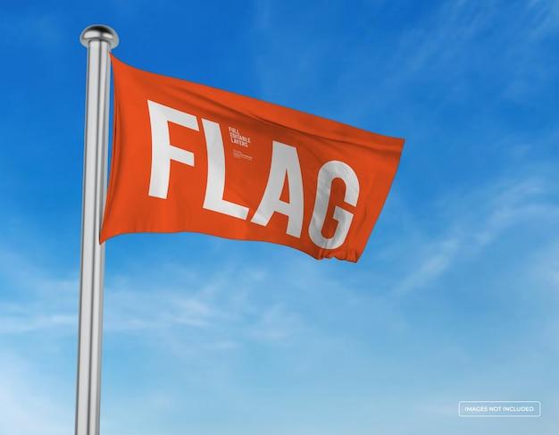Maquete de desenho de bandeira ondulada horizontal