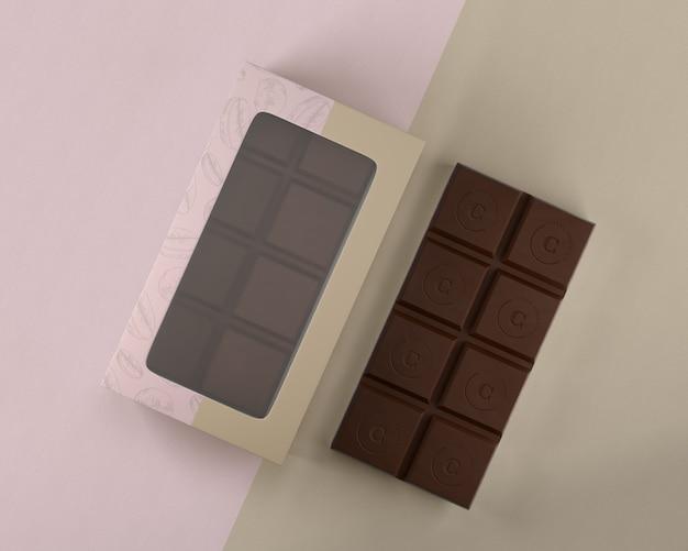 Maquete de design de caixa de chocolate
