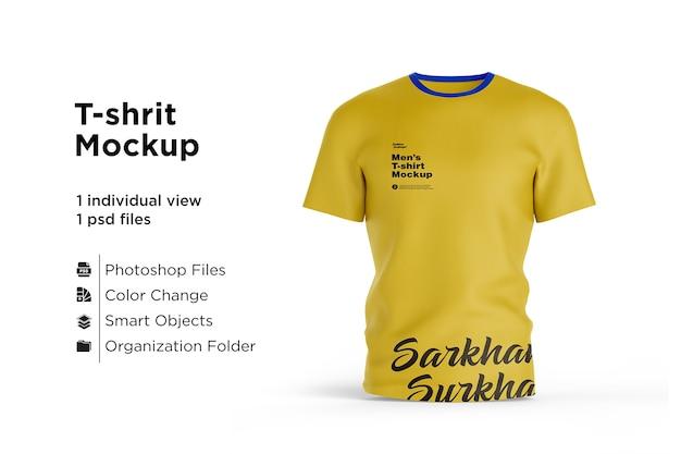 Maquete de design de camiseta isolada