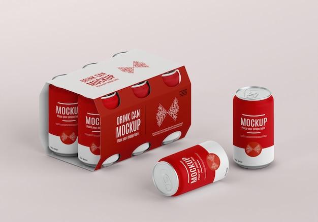 Maquete de design de embalagem de lata