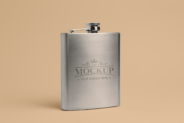 Maquete de design de frasco moderno