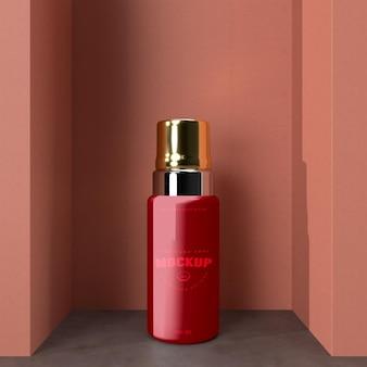 Maquete de design de pacote cosmético. embalagem para design de marca