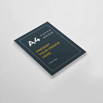 Maquete de design de papel de tamanho a4