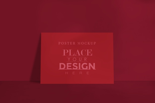 Maquete de design de pôster para a galeria de imagens, exposição e design de apresentação