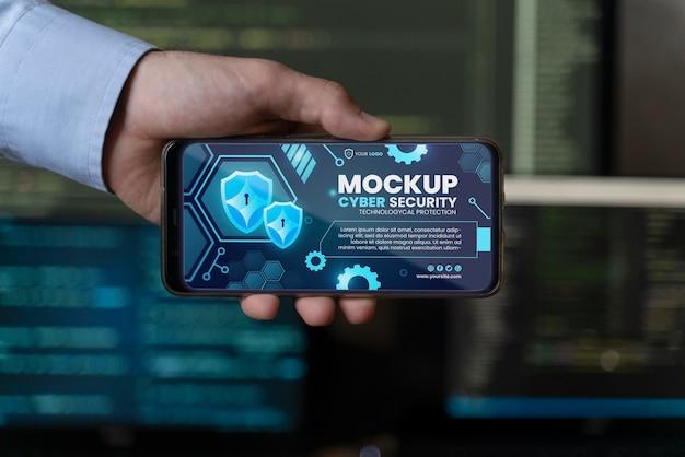 Maquete de design de segurança cibernética