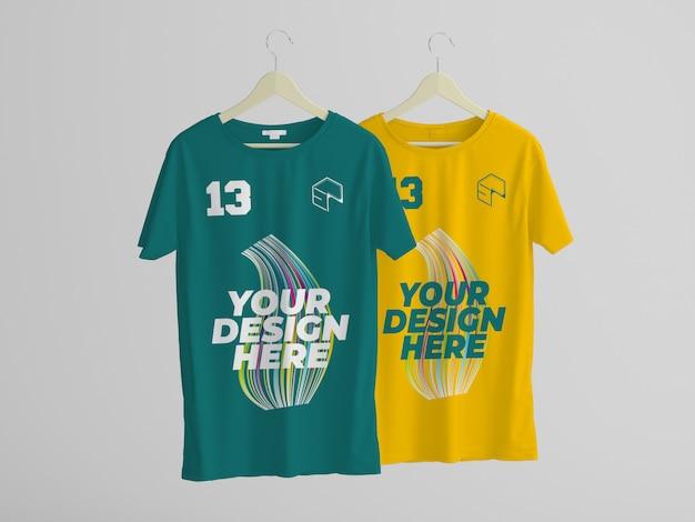 Maquete de design de t-shirt