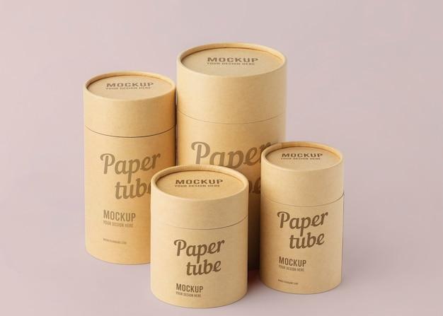 Maquete de design realista de cilindro artesanal