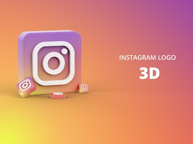 Maquete de design simples mínimo do logotipo do instagram