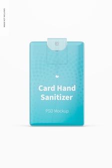 Maquete de desinfetante para mãos em cartão, vista frontal