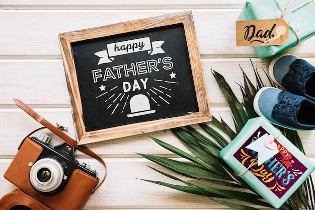 Maquete de dia dos pais com ardósia
