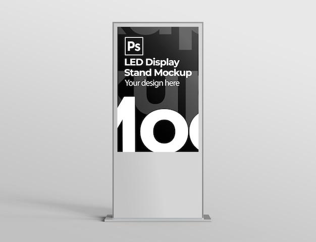 Maquete de display de led para apresentações de marca e publicidade