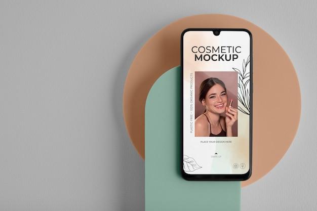 Maquete de dispositivo cosmético em estúdio