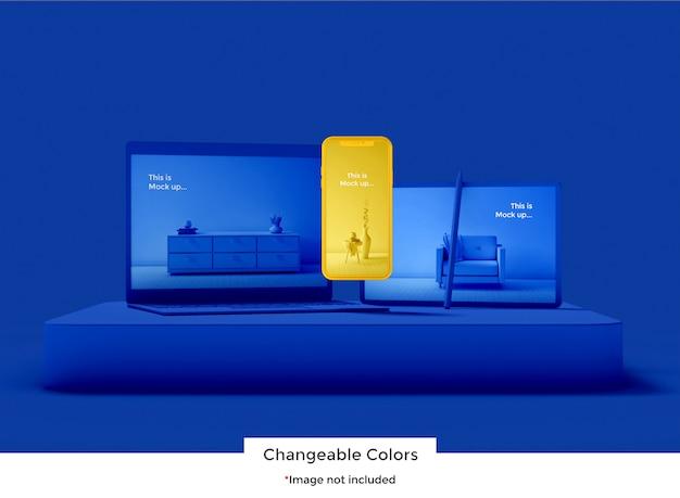 Maquete de dispositivo de conjunto 3d