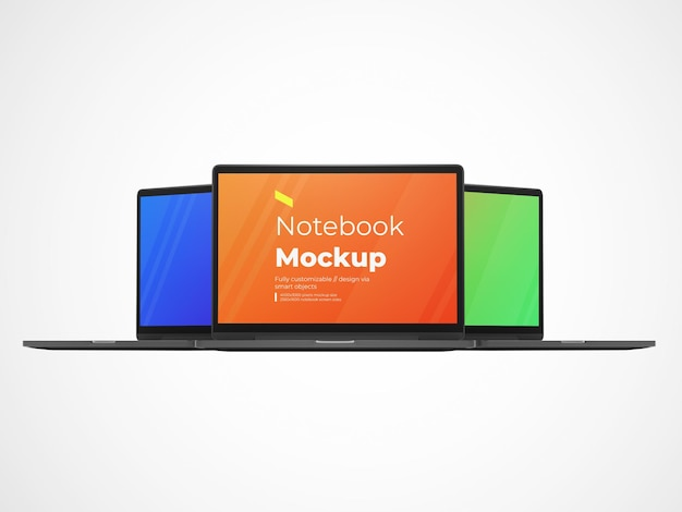 Maquete de dispositivo de laptop