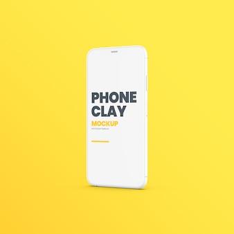 Maquete de dispositivo de telefone de argila