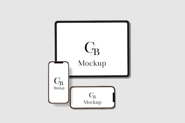 Maquete de dispositivo digital