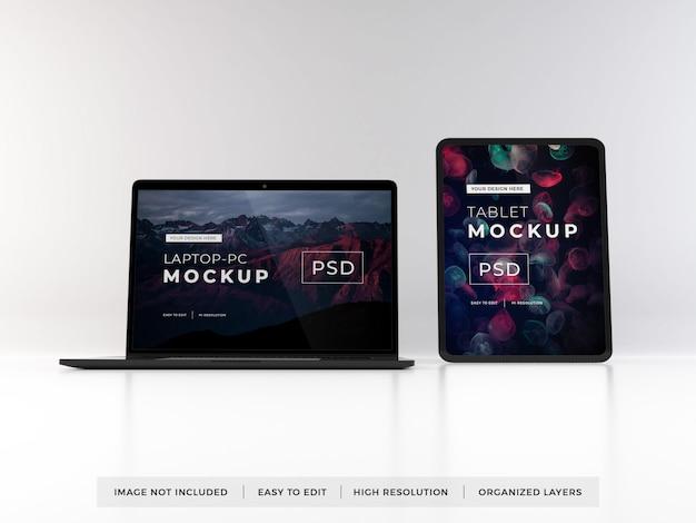 Maquete de dispositivo portátil e tablet realista Psd Premium