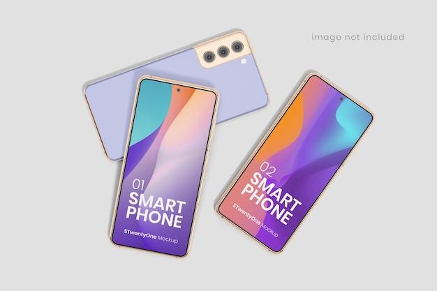 Maquete de dispositivo smartphone android Psd Premium