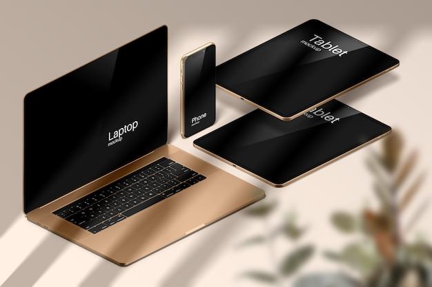 Maquete de dispositivos apple modernos