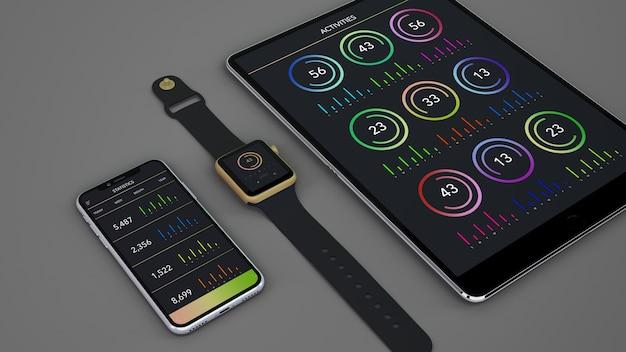 Maquete de dispositivos inteligentes